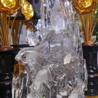 Tượng Phật Bà Quan Âm Lưu Ly Tự Tại Ngồi Tựa Sơn – 25 cm