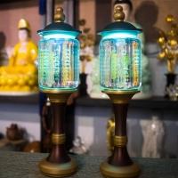 Đèn Led Cúng Phật Khắc Kinh Bát Nhã Chữ Vàng 1