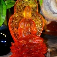 Tượng Phật Bà Quan Âm Đá Lưu Ly 20cm 2