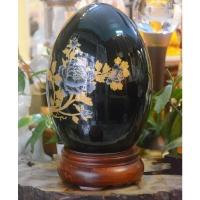 Quả Trứng Sứ Họa Tiết Hoa Mẫu Đơn Mạ Vàng 1900000