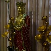 Tượng Địa Tạng Bồ Tát 108cm composite mạ vàng 18k1