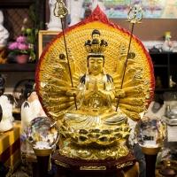 Tượng Thiên Thủ Thiên Nhãn Quan Âm Mạ Vàng - sttq00119102