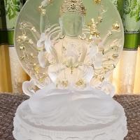 tượng thiên thủ thiên nhãn đá lưu ly khảm vàng 24k shop tĩnh tâm quán 1