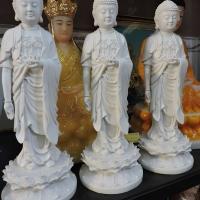 Tượng Phật A Di Đà Tịnh Tông thân trắng 36cm ttq1