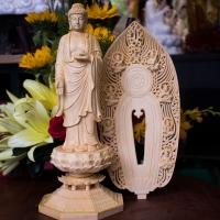 Tượng Phật A Di Đà Gỗ Bách Hương Đứng Tiếp Dẫn 2