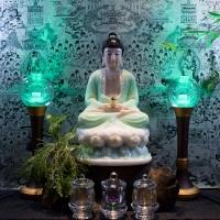 Tượng Phật A Di Đà Đẹp Bột Đá Xanh Ngọc [ Size 40cm]4