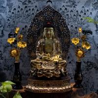 Tượng Phật A Di Đà Bằng Đồng Mạ Vàng 24k Nano 40cm 1