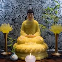 Tượng Phật Bổn Sư Thích Ca Đẹp Bột Đá Thạch Anh (50cm)1