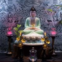 Tượng Phật Dược Sư Đẹp Bột Đá Xanh Ngọc [Size 40cm]1