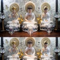 Bộ Tượng Ta Bà Tam Thánh Đá Ngọc 53cm 1