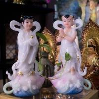 Tượng Kim Đồng - Ngọc Nữ Đá Ép 30cm1