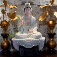 Tượng Mẹ Quan Âm Tự Tại Bột Đá Đài Loan Cao Cấp (70cm) tĩnh tâm quán 1
