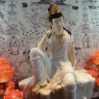 Tượng Quán Âm Bồ Tát Tự Tại Tĩnh Tâm - Cao 70cm1 (4)