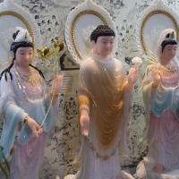 Tượng Tây Tam Thánh Đứng Bột Đá Cao Cấp - Áo Rũ Trắng Cam (size 60cm)1 (6)