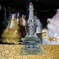 Tháp Xá Lợi Bằng Thủy Tinh Cao Cấp Khắc Phật - Cát Tường1