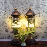 Đèn Điện Thờ Cúng Phật Khắc Hoa Sen CNC 53cm 1