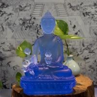 Tượng Phật Dược Sư Đá Lưu Ly Màu Xanh Dương Cao 21cm 1