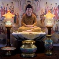 Tôn Tượng Phật Thích Ca Tĩnh Tâm Đẹp Bột Đá Vẽ Màu Khoáng Thủ Công 50cm1 (3)