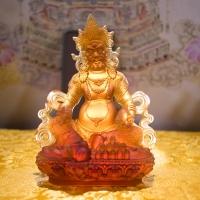 Tượng Hoàng Thần Tài Đá Lưu Ly Màu Hổ Phách (16cm)8