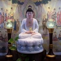 Mẫu Tượng Phật Dược Sư Đẹp Đá Xà Cừ 50cm1