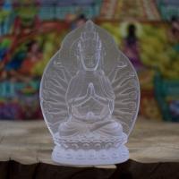 Tượng Phật Bà Nghìn Tay Đá Lưu Ly Để Xe Ô Tô - 11cm1