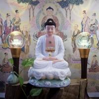 Tượng Phật Di Đà Ngồi Đài Sen Cao 40cm 1