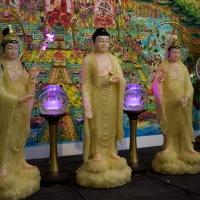 Tượng Phật Tam Thánh Đứng Đá Thạch Anh Cao 48cm7