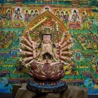 Tượng Phật Mẫu Chuẩn Đề Composite Vẽ Màu 55cm1