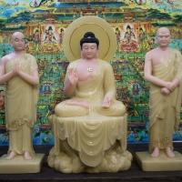 Tượng Phật Thích Ca A Nan Ca Diếp Đá Thạch Anh 75cm1