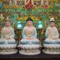 Tượng Ta Bà Tam Thánh Đế Sen 7 Tầng 40cm1